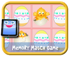 Easter Chicks Memory Match - Online mobile and tablet-ready game for kids